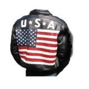 Leather USA Flag Jacket