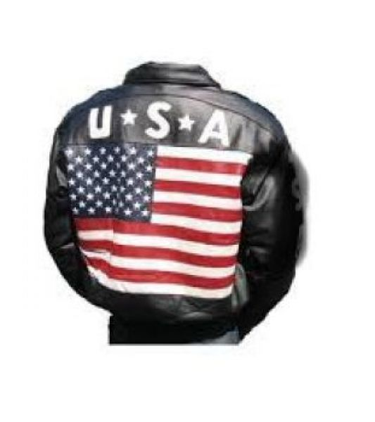 Leather Usa Flag Jacket Hudson Leather