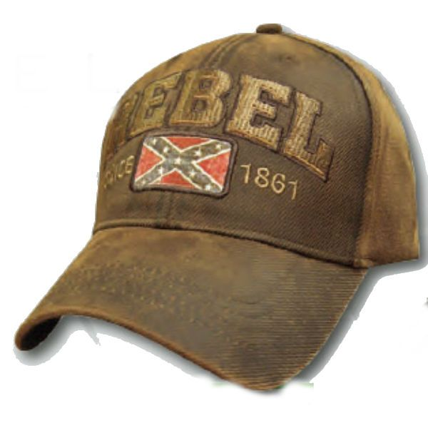 Oil Skin Material Hat With Rebel Flag  b602e425aa6