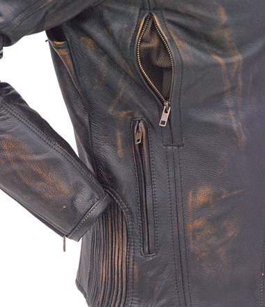 c688bf905 Women Distressed Rubbed Brown Vented Jacket